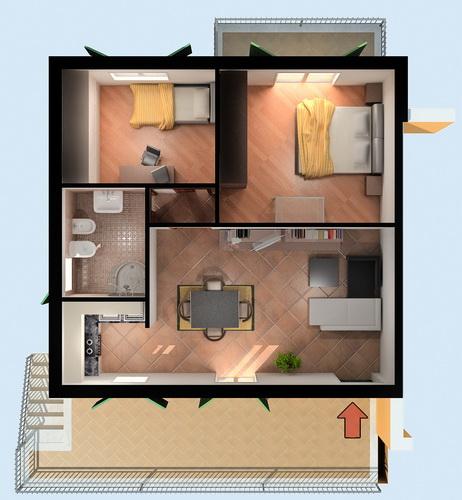 Piante architettoniche 3d kukua design for Planimetrie architettoniche